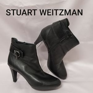 Stuart Weitzman Genuine Nappa Leather Ankle Boot